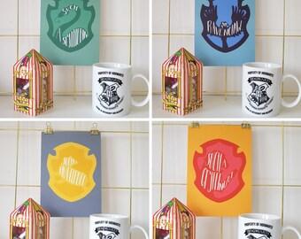 Harry Potter Poudlard maison impression | A5 Affiche de Gryffondor/Serdaigle/Serpentard/Poufsouffle