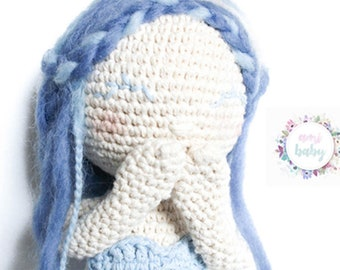Mermaid doll, crochet mermaid doll, amigurumi mermaid, crochet doll, mermaid toy, amigurumi toy, fantasy doll, room decor, toddler toy, gift