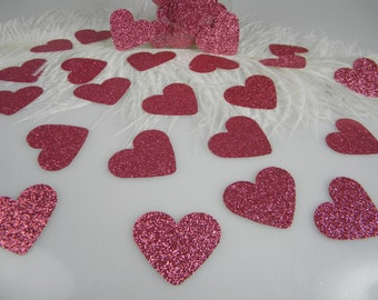 Pink Glitter Heart Confetti Princess Party | Valentine's Day Party Decorations | Bachelorette Party Table Scatter | Baby Shower Decor
