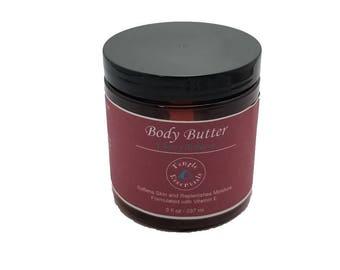 WHIPPED Body Butter | Deep Moisturizer For All Skin Types | Oily Skin | Dry skin Skin Cream| Body Lotion | Gift for her/her | Cherry Tobacco