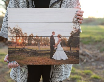 Photo pallets; Custom pallet; Photos on wood; Pallet Art; Wood Anniversary