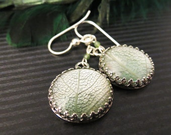 Leaf Lace Earrings in Sterling Silver  Remnants Collection