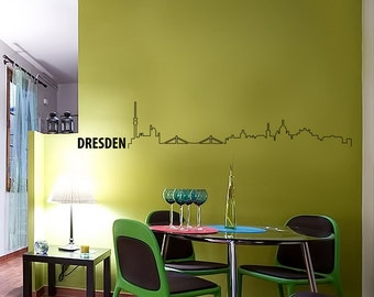 Dresden Skyline Wall Decal Cute Vinyl Sticker Home Arts Europe City Wall Decals WT098