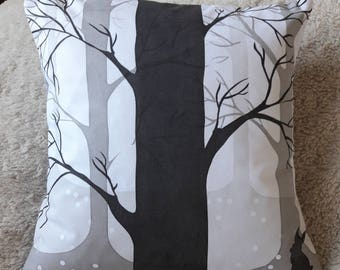 Hand Printed Cushion 'Trees'