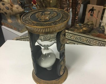 Unique Hand Gold Leafed and Detailed Egyptian Sand timer