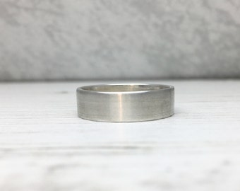 Brushed Silver Ring, Brushed Silver Band, Wedding Ring, Silver Wedding Ring, Simple Modern Ring, Plain Ring, Plain Band, Rustic Silver Ring