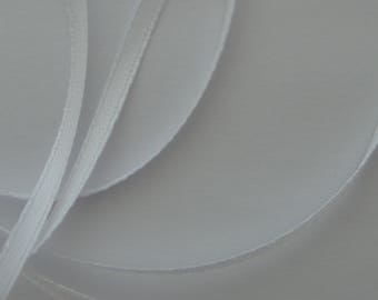 10 meters width 3mm white color satin ribbon