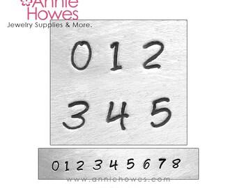 Metal Stamp Set. Impressart Numbers Stamp Set - 3mm metal stamps - Bridgette Numbers Set. Choose the style.