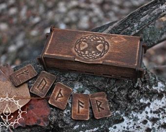 Dark runes set in box