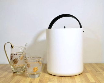 Retro Mod Ice Bucket Produced by Bodum of the Switzerland Swiss Made Black and White Perfect for Your New Years Eve Party