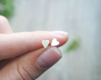 Heart Studs | Heart jewelry | Heart earrings | Gift for her | Valentines jewelry