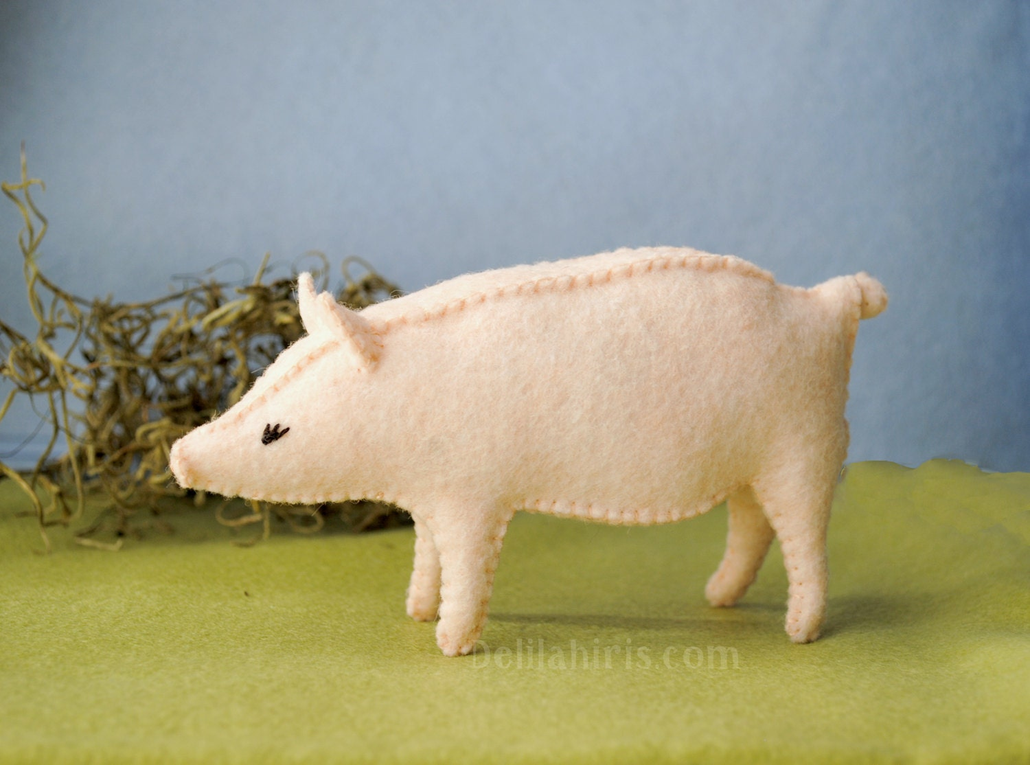 Printable PDF Felt Pig Sewing Pattern * Sew Your Own Stuffed Pig Toy ...