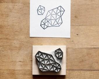 Crystal Configuration 02 - Hand Carved Stamp