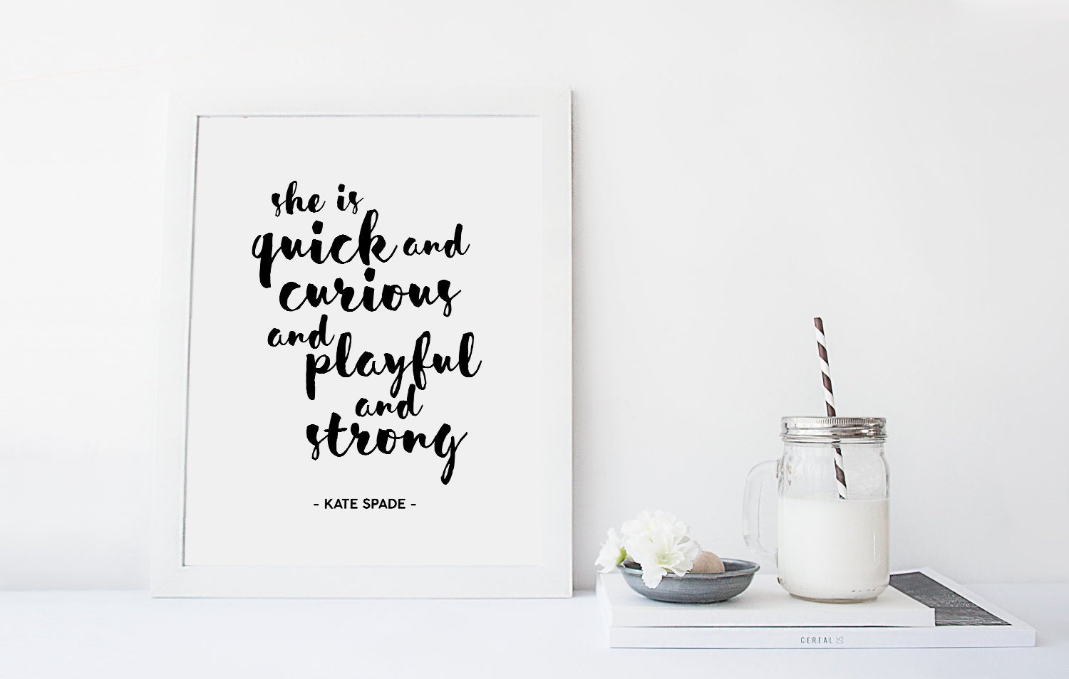 Kate Spade Quotes Printable Kate Spade Quote Curious Quote Playful Quote