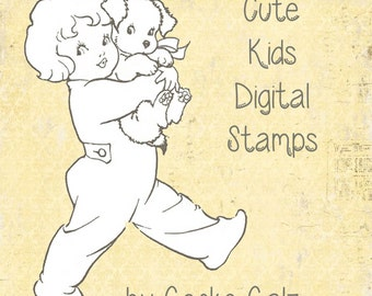 Cute Kids Digital Stamp Set