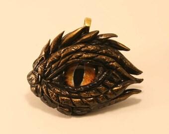 Dragon Eye Fantasy Age Sculpture or Necklace