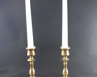 Vintage Brass Candle Holder, Brass Candlesticks, Solid Brass & Copper, Set of Two