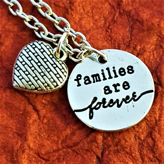 Families are Forever, LDS Jewelry, Forever Family Necklace, Gifts for Mom Mother-in-Law, Grandma Gift, Eternal Family, Family Heart Charms