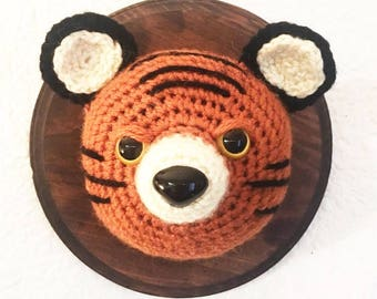 Furocious Tiger- Crochet Taxidermy