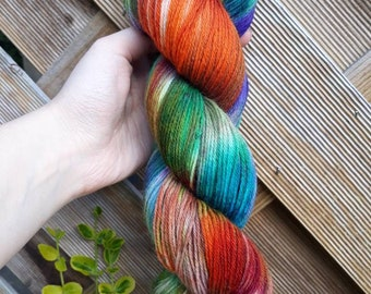 Hand dyed yarn - vintage  -  sock