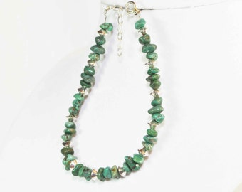 Green Turquoise & Sterling Silver Bracelet, Limited Edition