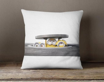 Minion Couch pillow, minion accent pillow, printed cushion cover cute throw pillow kids room pillow kids pillow gift for girls and boys P397