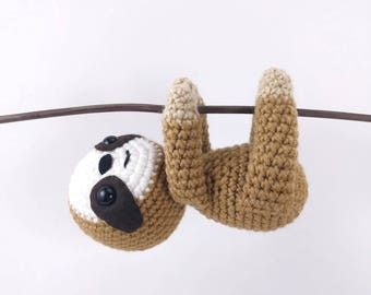 Free Amigurumi Sloth Pattern : Crocheted animal patterns by theresascrochetshop on etsy
