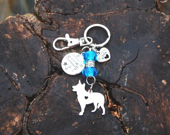 Dog Breed Keychain, Cat Keychain, Gifts For Her, Best Friend Keychain, Crystal Keychain, Dog Silhouette Keychain, Birthday, Christmas Gift