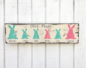 Holiday,Farmhouse Decor, Farmhouse sign,wedding gift,Easter decoration , family bunnies, my peeps, bunnies, Easter decorGift for women