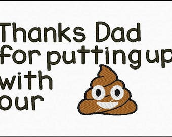 Father's Day or Birthday Toilet Paper Embroidery File