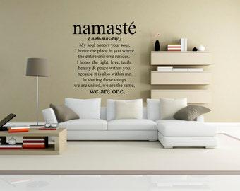 Beau Namaste Wall Decal   Namaste Wall Art   Yoga Wall Decal   Vinyl Wall Decal  Namaste