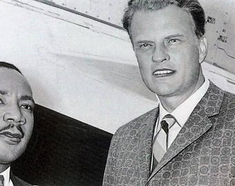 Dr. Martin Luther King with Dr. Billy Graham in the late 1950s
