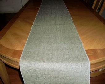 "14"" x 72"" Charcoal Grey Burlap Table Runner (Serged edges)"
