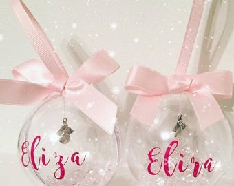 Gorgeous Personalised Christmas Bauble any name