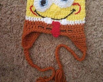 Kid's Spongebob Squarepants Crocheted Hat