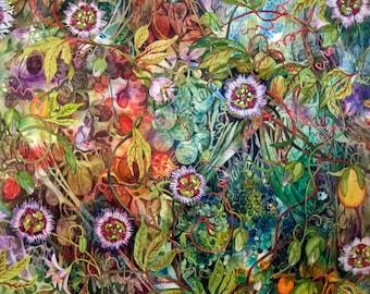 Passion Flowers an original watercolor