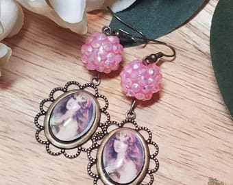 Gypsy Cameo Dangle Earrings