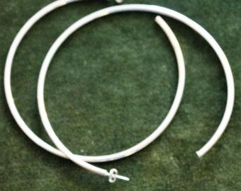 Vintage Large Silver Hoop Earrings