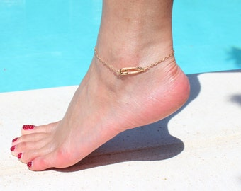 Safety Pin Anklet