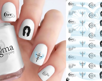 Cher Nail Decals (Set of 42)