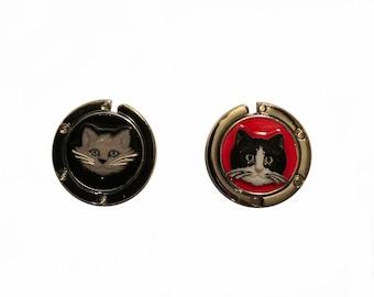 ONE kitty  cat purse holder / purse hanger