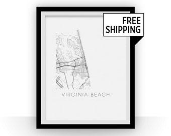 Virginia Beach Map Print