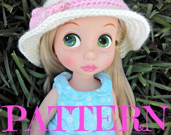Animator Doll Crochet Hat PATTERN fits Disney Animator Collection Doll, Doll Clothes Pattern, 16 Inch Doll, Animator Doll, Crochet Hat Pack