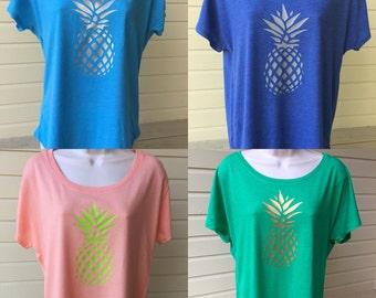 Pineapple Dolman shirt, custom shirt, pineapple shirt