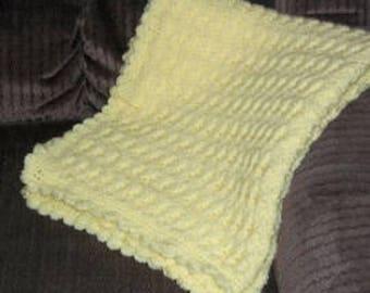 Yellow Hand Crocheted Baby Blanket