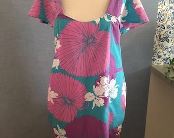 Hawaiian Print Dress with pockets Floral Summer