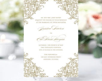 Engraved Invitation Etsy - Engraved wedding invitations