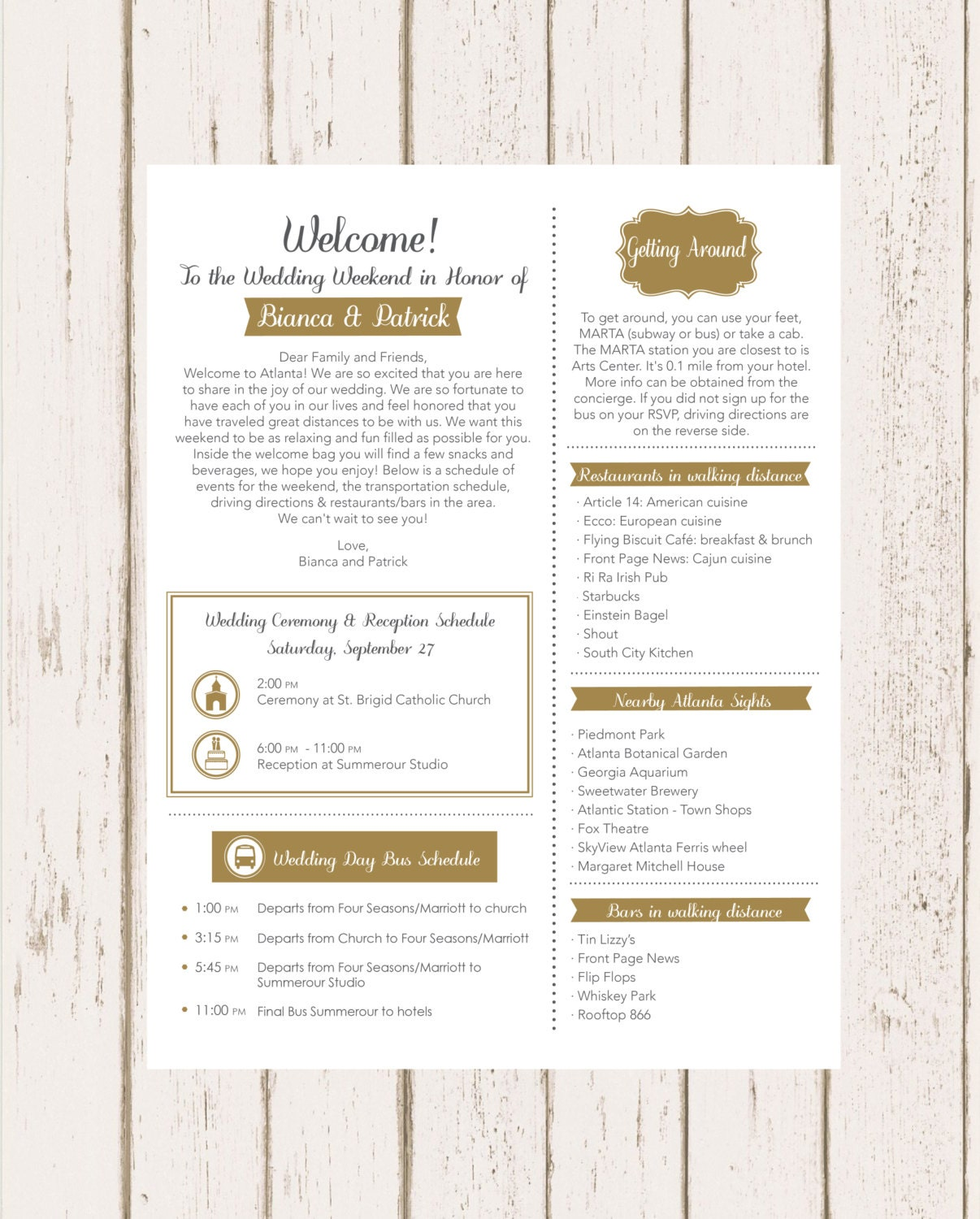 Destination Wedding Welcome Letter Wording