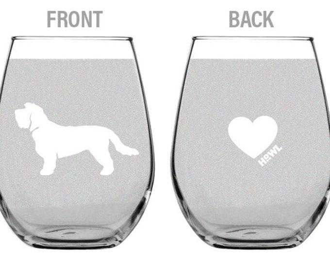 Petite Basset Griffon Vendeen Wine Glass Set