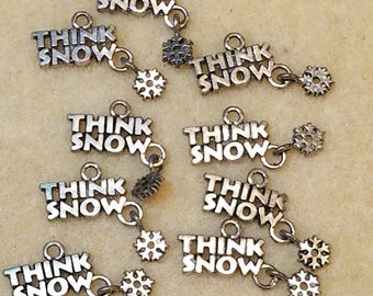 Think Snow Charms with Snowflake Dangling